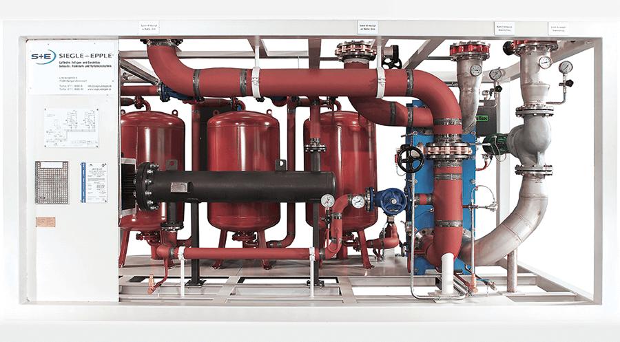 Kompakte Einheit zur Steuerung des Wärmerückgewinnungssystems