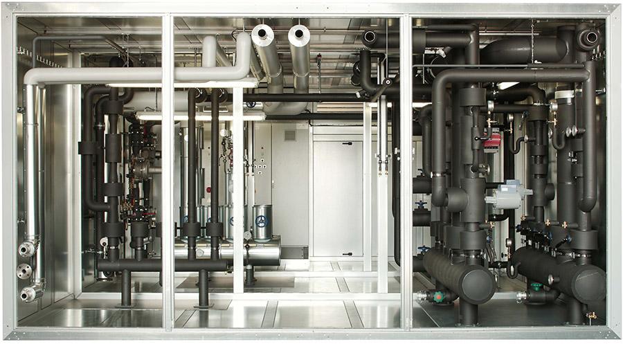 Installationskammer für Wärme- und Kälteversorgung