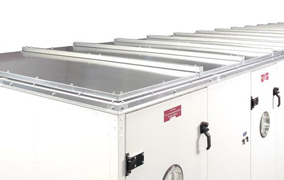 Hocheffizientes, energieoptimiertes Lüftungsgerät zur Außenaufstellung