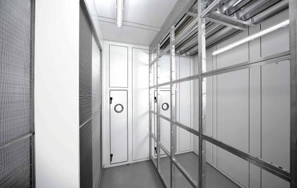 Lüftungsgerät für Reinraumtechnik-Innenansicht