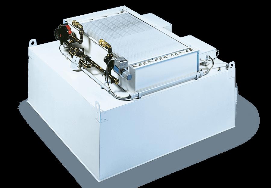 Filter-Ventilator-Modul für die temperaturstabile Reinraumdeckensysteme