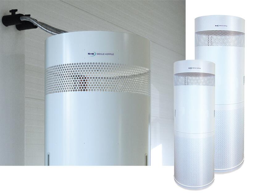 Portables Umluftkühlgerät mit Wasseranschluss