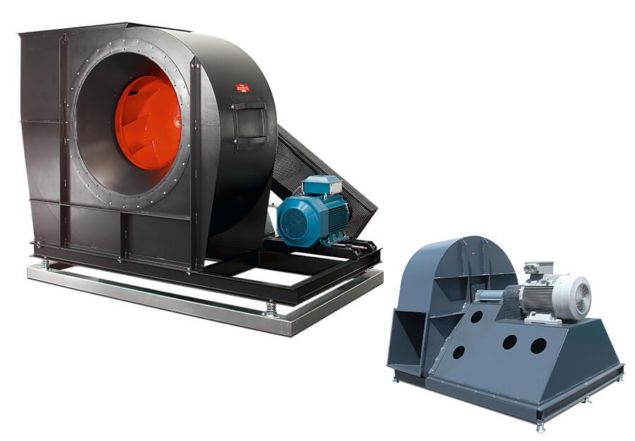 Ventilator optimiert für Klimatechnik / Ventilator optimiert für Prozessanwendungen